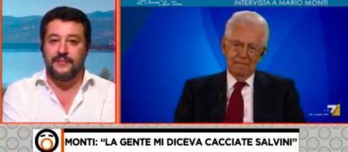 Nuovo scontro a distanza tra Matteo Salvini e Mario Monti