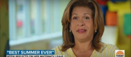 "Hoda Kotb feels more complete and ready than ever to be back to work on ""Today"" and be the best mom to her girls. [Image source: TODAY-YouTube]"