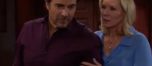 Ridge and Brooke may get caught in Liam and Hope's custody battle for Douglas.(Image Source:CBS-YouTube screencap.)