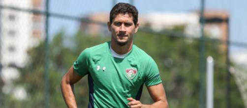 Capitão após briga com Oswaldo, Ganso mostra poder nos bastidores do Fluminense. (Instagram/@lucasmerconphotos/FFC)