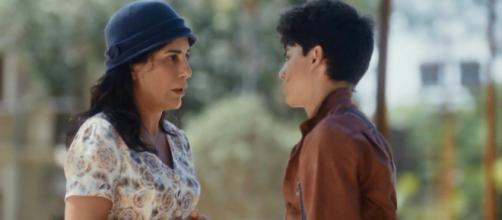 )Éramos Seis': Primeira semana da trama será de tensão. (Reprodução/TV Globo)