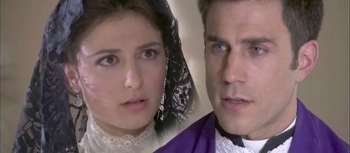 Una vita, anticipazioni: Samuel sul punto di baciare Lucia, interviene padre telmo