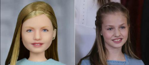 A la izquierda, la muñeca. A la derecha, la princesa Leonor. / AFD - Gtres