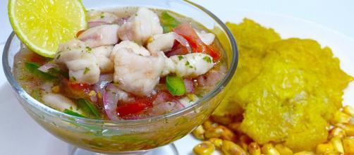 El ceviche de pescado ecuatoriano. - recetasgratis.net