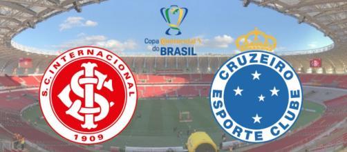 Internacional x Cruzeiro com transmissão ao vivo na Rede Globo. (Fotomontagem)