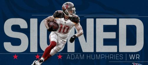 Adam Humphries signs with the Titans, Twitter, official Tennessee Titans account