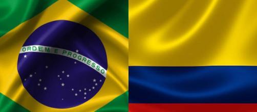 Brasil x Colômbia terá transmissão ao vivo da TV Globo. (Fotomontagem)