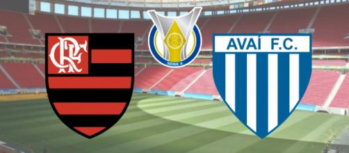 Flamengo x Avaí terá transmissão exclusiva do Premiere. (Fotomontagem)