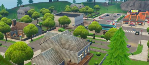 "Greasy Grove is coming back to ""Fortnite."" (Image Credit: In-game screenshot)"