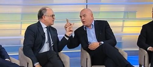 La lite tra Marco Rizzo e Roberto Gualtieri su La7