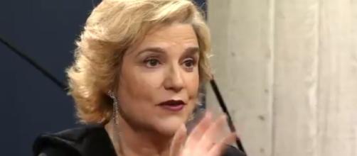 Pilar Rahola, durante su entrevista en 'El Diván'. / TV3