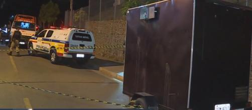 Vítimas estavam em um trailer. (Reprodução/TV Globo)