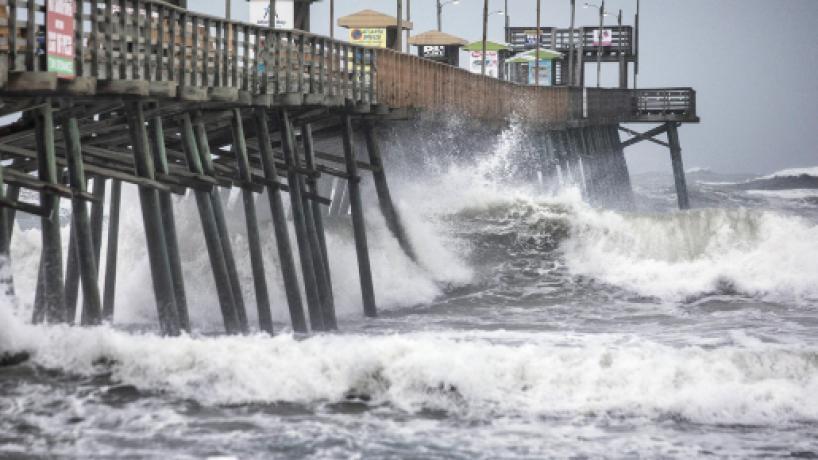 El huracán Dorian azotó la cadena de islas de Carolina del Norte
