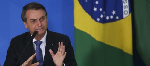 Bolsonaro durante evento no Palácio do Planalto. (Antonio Cruz/Agência Brasil)
