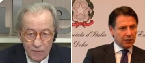 Le nuove accuse di Vittorio Feltri a Giuseppe Conte