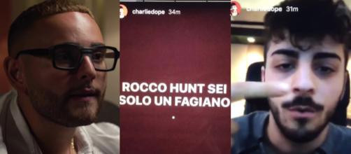 Rocco Hunt e la story di Charlie Charles, immagine simbolo del beef del 2016.