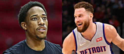 DeMar DeRozan and Blake Griffin are possible trade targets for the Blazers. [Image Source: SmashDown Sports/Flickr]