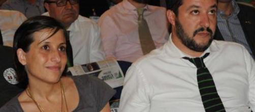 Giulia Martinelli insieme a Matteo Salvini, padre di sua figlia
