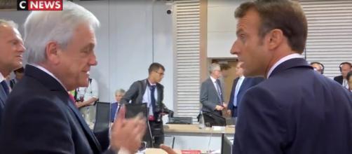 Macron aparece reclamando de Bolsonaro em vídeo. (Reprodução/CNews)