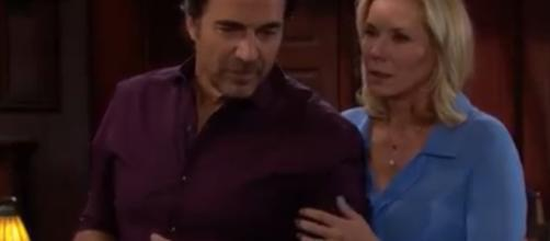 Ridge and Brooke's marriage has a in serious trouble. [Image Source: CBS/YouTube]
