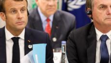 Macron é flagrado em vídeo criticando Jair Bolsonaro