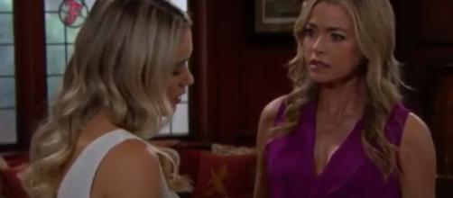 Flo May blackmail Ridge so that her daughter goes free.(Image Source:CBS-YouTube.)