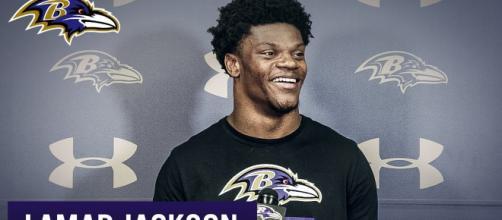 Lamar Jackson led manhandled the Miami Dolphins on Sunday. [Image Credit] Baltimore Ravens/YouTube