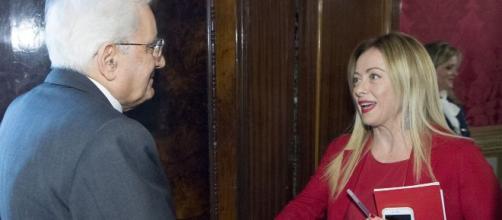 Sergio Mattarella e Giorgia Meloni
