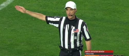 Despite officiating chief disagrees with decisions, spoke to Ryan still no action on ref. [Image Source: ESPN/YouTube]