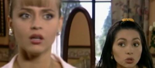 Gaby Spanic e Paty Diaz fizeram parte do elenco. (Reprodução/Televisa)