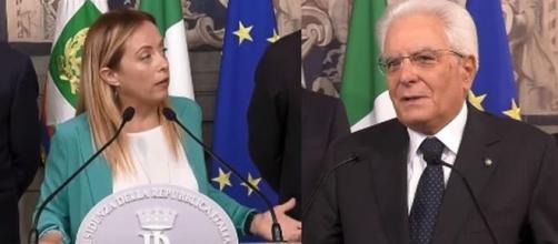 Giorgia Meloni e Sergio Mattarella.