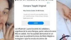 Laura Escanes se enfada con las críticas falsas sobre si habla catalán con su hija