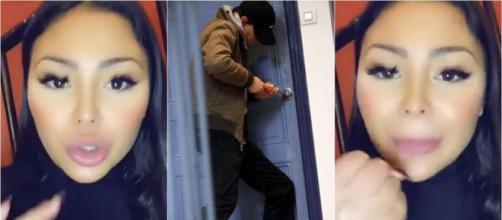 Après Carla et Kevin, c'est Maeva Ghennam qui a été cambriolée. Elle insulte et menace les voleurs ! ®Snapchat : Maeva Ghennam.