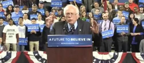 Bernie Sanders ramps up presence in Seattle. [Image source/King 5 You Tube video]