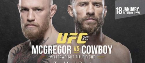 UFC 246 McGregor vs Cowboy domenica 19 su DAZN