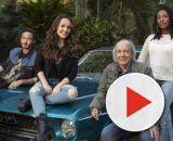Katiuscia Canoro, Larissa Manoela, Erasmo Carlos são os principais nomes da comédia 'Modo Avião' da Netflix. (Reprodução/Netflix)
