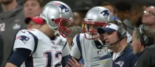 Brady is familiar with McDaniels' system. [Image Source: New England Patriots/YouTube]