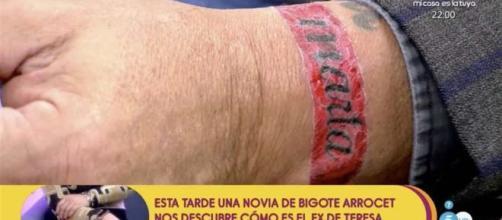 Kiko Matamoros y su tatuaje de amor por Marta