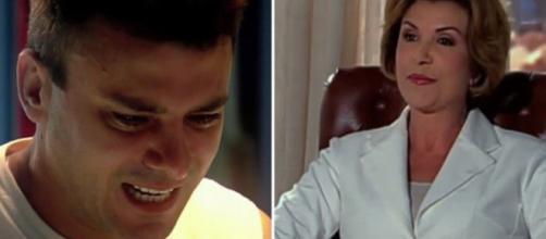 No capítulo 206 de 'Caminhos do Coração', Dra. Júlia tentará beijar Marcelo. (Divulgação/Record TV)