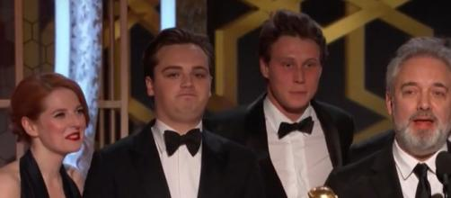 Sam Mendes won best picture - drama at the 77th Golden Globe Wards. [Image via Youtube screenshot/NBC]