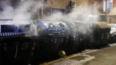 Ostia, bruciati i cassonetti AMA sul Lungomare Toscanelli