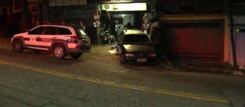 Criança de quatro anos morreu no local. (Reprodução/TV Globo)