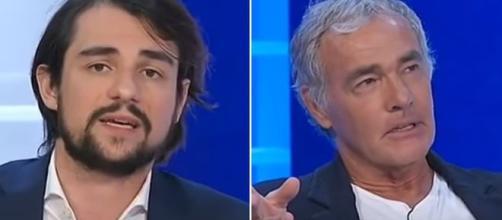 Il deputato del M5S Michele Sodano e Massimo Giletti.