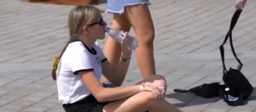 Has global warming played a role in Europe's record-breaking heatwave? [Image source/NBC News YouTube video]