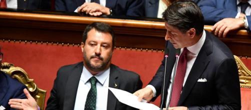 L'ex vicepremier Matteo Salvini e il presidente del consiglio Giuseppe Conte