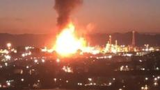 Una fuerte explosión causa un incendio en una empresa petroquímica en Tarragona