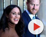 Príncipe Harry e Meghan Markle durante visita à Casa do Canadá, em Londres. (Arquivo Blasting News)