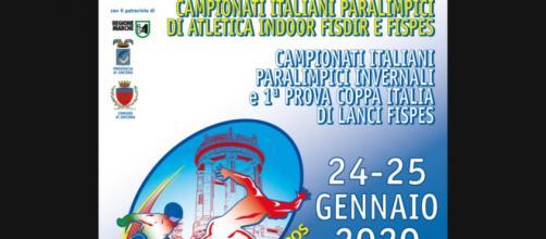 Locandina dei campionati di atletica paralimpica