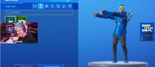 Ninja's official skin doing the Pon Pon. [Image source: Ninja/YouTube]