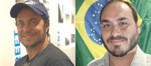 Thammy Miranda e Carlos Bolsonaro. (Reprodução/ Instagram)